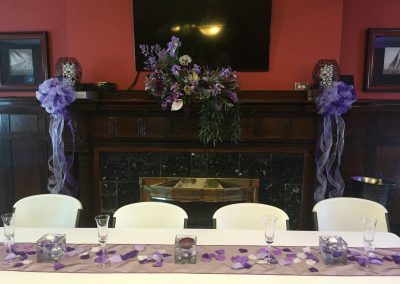 Head Table and Decor | Indoor Event
