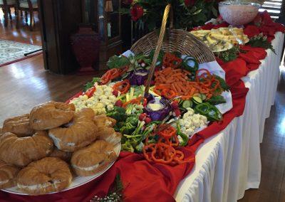 Buffet line w/food   Indoor Event