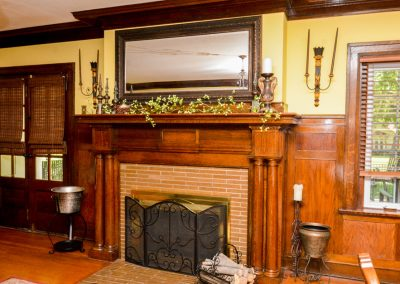 Formal Dining Fireplace | La Bella Casa